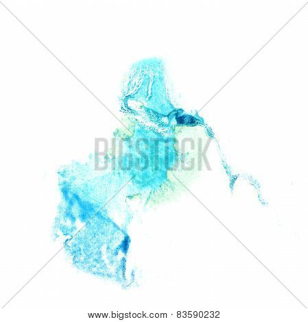 Blot divorce illustration bluish artist of handwork is isolated