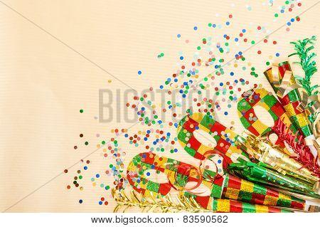 Carnival Decorations, Mask, Confetti, Streamer