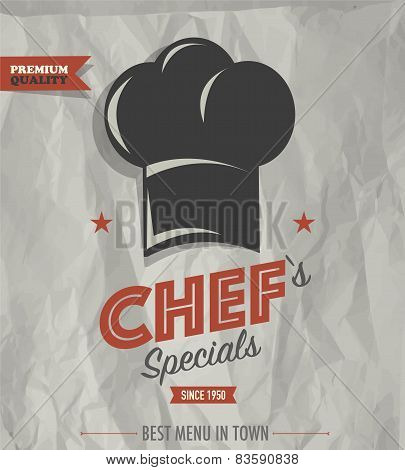 Restaurant cafe bar chef's specials