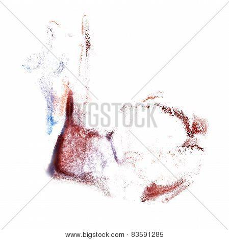 Blot blue, burgundy divorce illustration artist of handwork is i