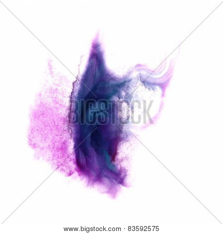 macro spot lilac, pink blotch texture isolated on white texture