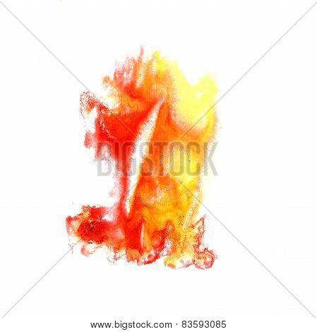 Blot divorce illustration red, yellow artist of handwork is isol