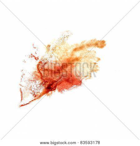 Blot brown, burgundy divorce illustration artist of handwork is