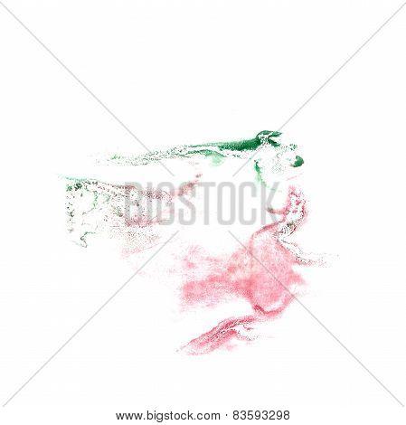 Blot divorce pink, green illustration artist of handwork is isol