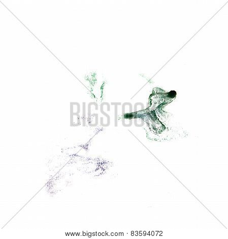 Blot green, brown divorce illustration artist of handwork is iso
