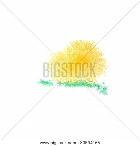 Blot green, yellow divorce illustration artist of handwork is is