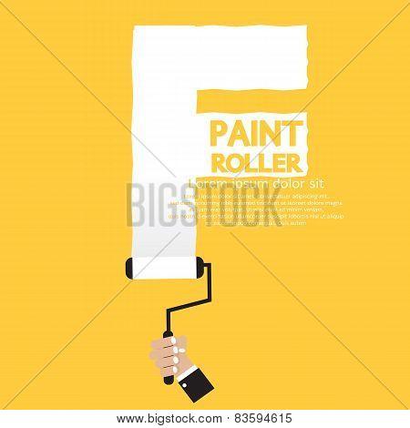 Paint Roller Alphabet F.
