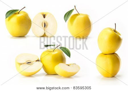 Composite of yellow golden apple