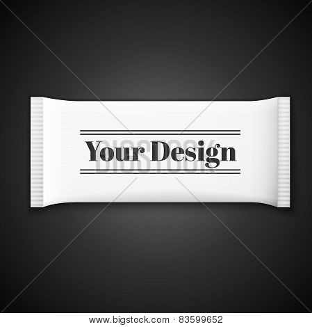 Blank white plastic sachet for medicine, condoms, drugs, coffee, sugar, salt, spices
