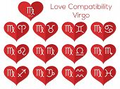 stock photo of virgo  - Love compatibility  - JPG