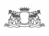 pic of shield  - Decorative antique crest - JPG