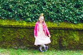 picture of princess crown  - Outdoor portrait of a cute little girl wearing a crown - JPG