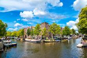 stock photo of population  - Canals of Amsterdam - JPG