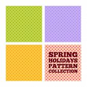 picture of fool  - Collection of seamless patterns for spring holidays  - JPG