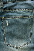 pic of ripper  - jeans background with trendy broken fabric texture and pocket - JPG