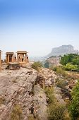 foto of mausoleum  - Jaswant Thada mausoleum with mehrangarh fort in the background Jodhpur India - JPG