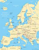 pic of political map  - Europe Political Map and the surrounding region - JPG