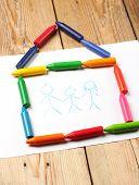 stock photo of montessori school  - Home love family still life concept - JPG