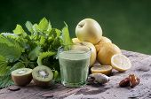 picture of nettle  - shake nettles with kiwi apples and ginger detox drink for a vegetarian diet - JPG