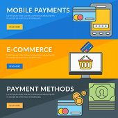 foto of payment methods  - Flat design concept for mobile payments e - JPG