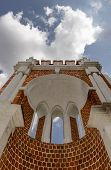 picture of pilaster  - Vintage old bridge in the park Tsaritsyno - JPG