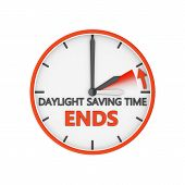 pic of daylight-saving  - time change to daylight saving time on white background - JPG
