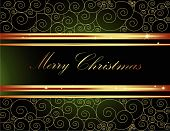 image of welts  - Merry Christmas background made of gold and green decorations - JPG