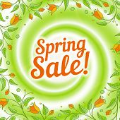 stock photo of dizziness  - Spring sale swirl - JPG