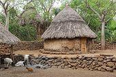 image of ethiopia  - Village of Konso people - JPG