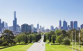stock photo of cbd  - View of the skyline in Melbourne - JPG