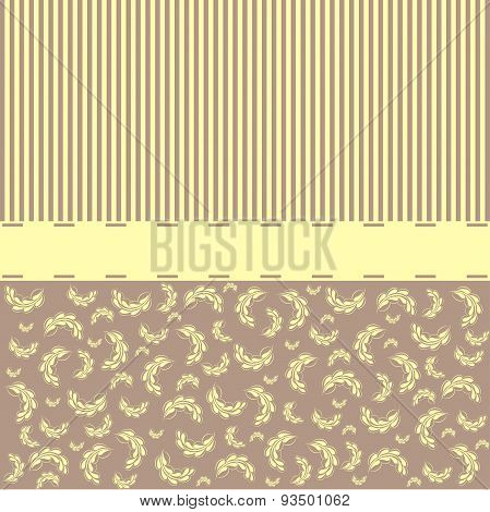 Vintage Template With Decorative Flowers