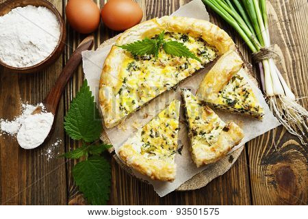 Pie With Nettles And Spring Onion