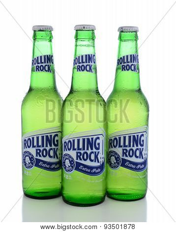 Three Bottles Rolling Rock