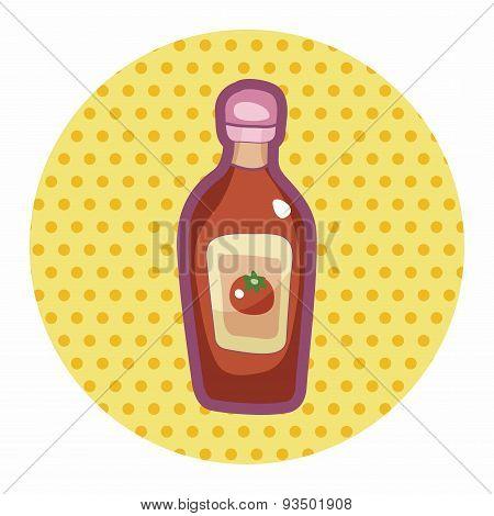 Kitchenware Sauce Bottle Theme Elements
