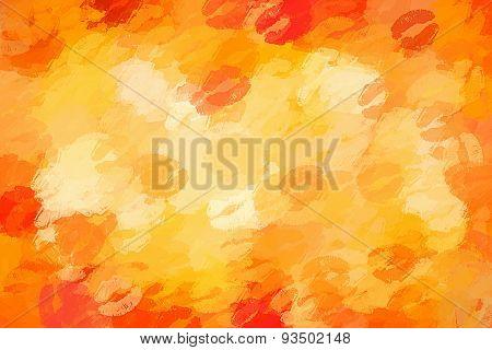 orange juicy kiss background