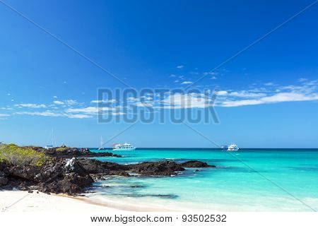 Bacha Beach In Galapagos Islands