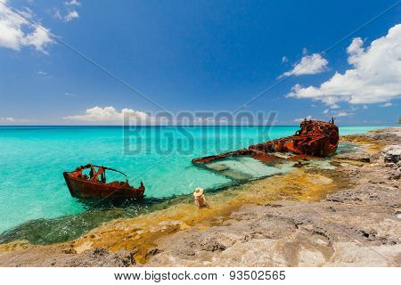 Rusty Ship Wreckage