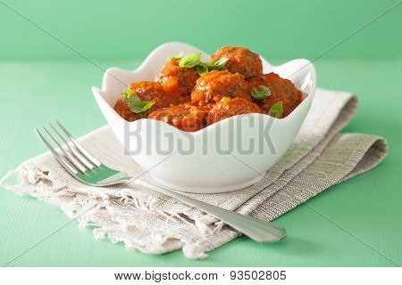 meatballs with tomato sauce in bowl