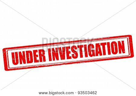 Rubber stamp with text under investigation inside vector illustration
