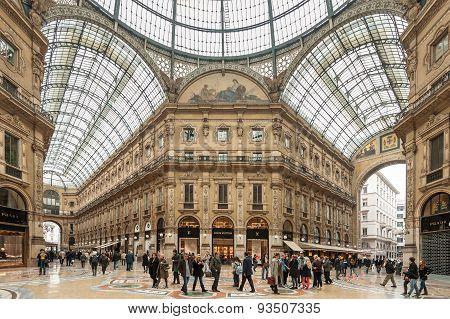 Galleria Vittorio Emanuele II in Milan.