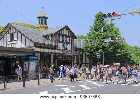 Harajuku train station Tokyo Japan
