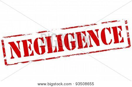 Rubber stamp with word negligence inside vector illustration
