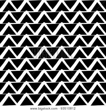 Repeatable Pattern With Wavy, Zigzag Lines. (editable Vector)