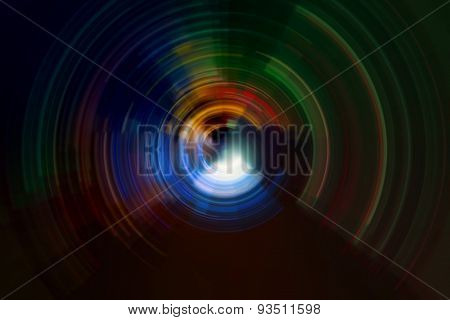 abstract colorful spiral radial motion background