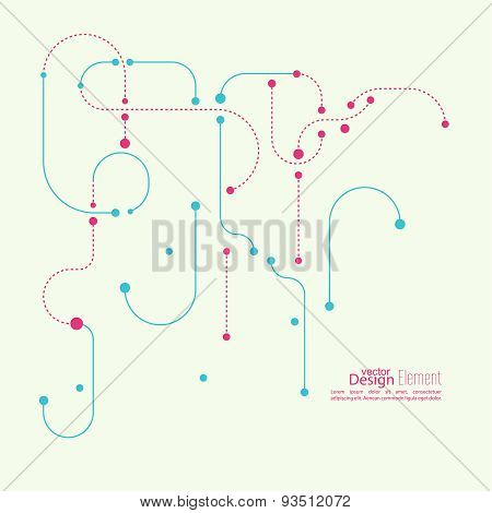 Abstract background with curved lines