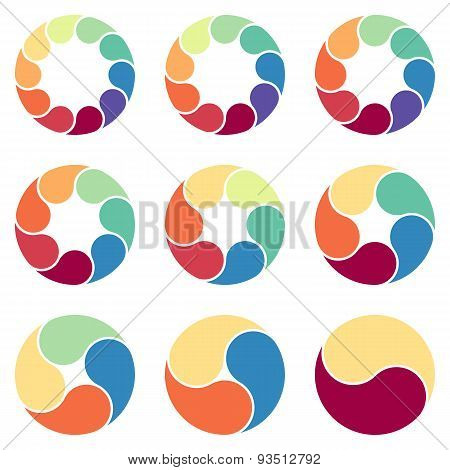 Vector circles for infographic. Template for diagram, graph, presentation and round chart.