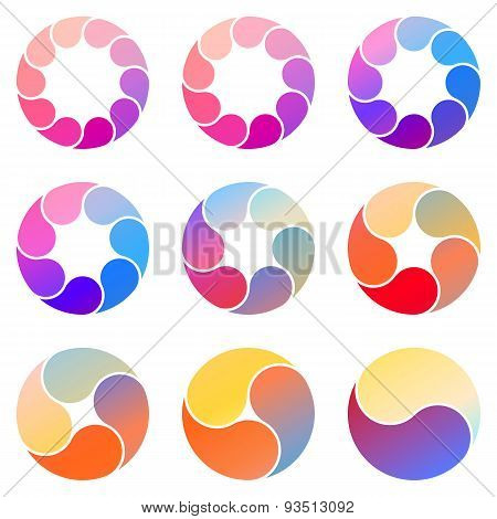Vector circles for infographic. Template for cycling diagram, graph, presentation and round chart.