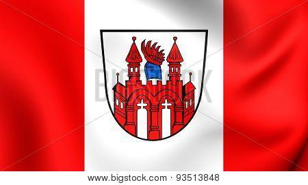 Flag Of The Neubrandenburg, Germany.