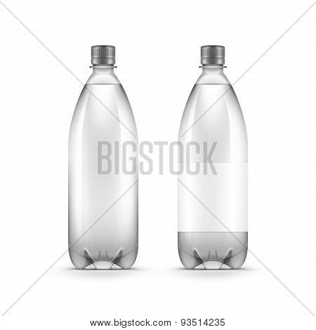 Vector Blank Plastic Water Bottle Isolated