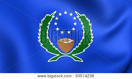 Flag Of The Pohnpei State, Micronesia.